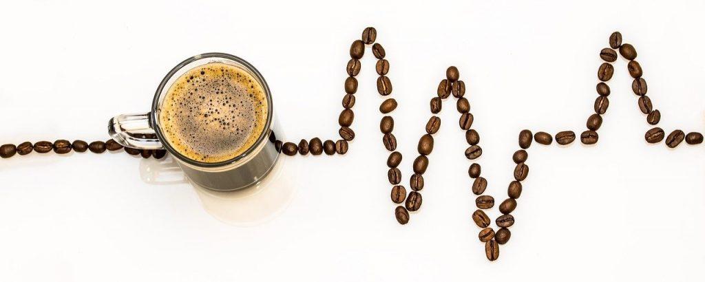Kaffeebohnen-EKG-Linie