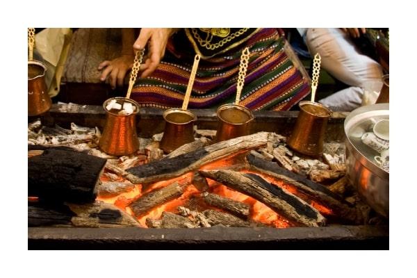 Mokkakannen aus Kupfer