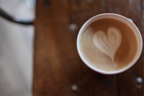 Kaffee Milchschaum Herz