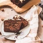 Stück Schokoladen-Eiskaffee-Kuchen