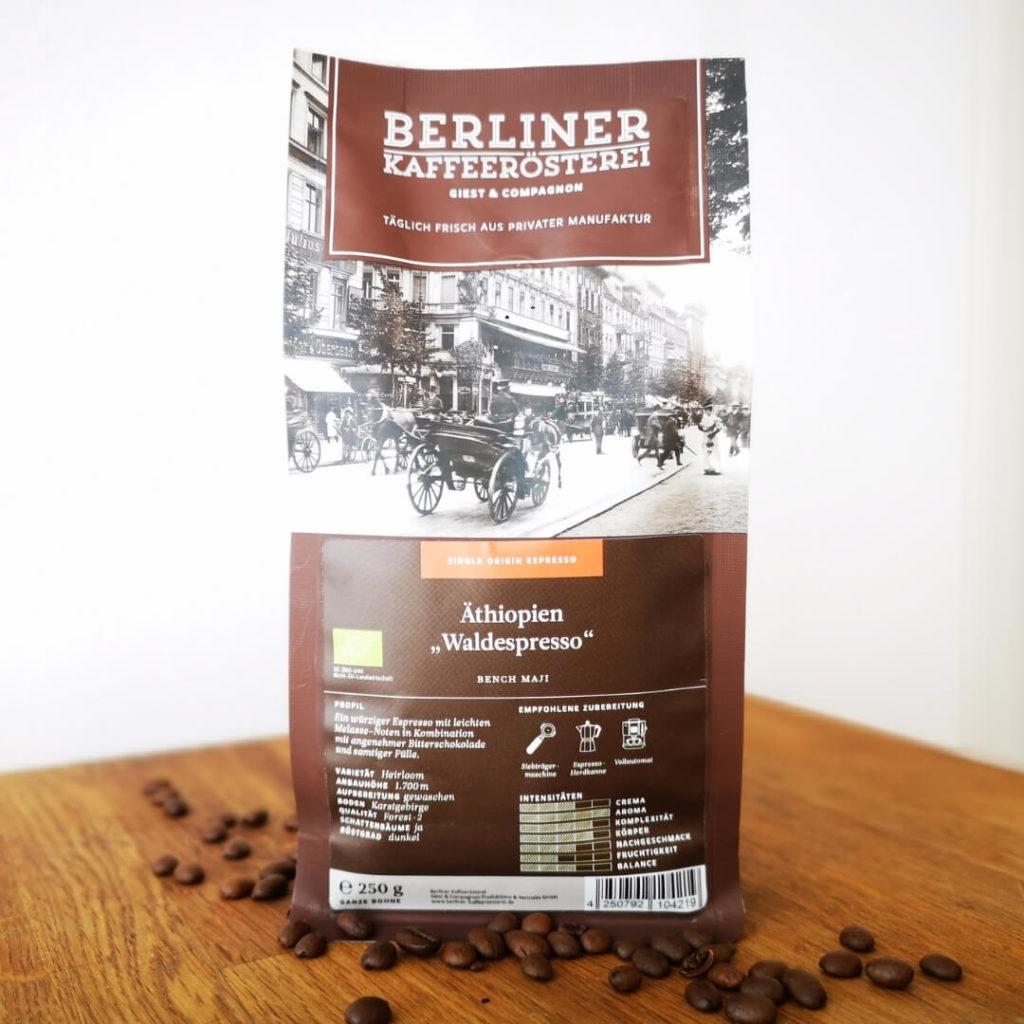 Äthiopien Waldespresso Bio von der Berliner Kaffeerösterei