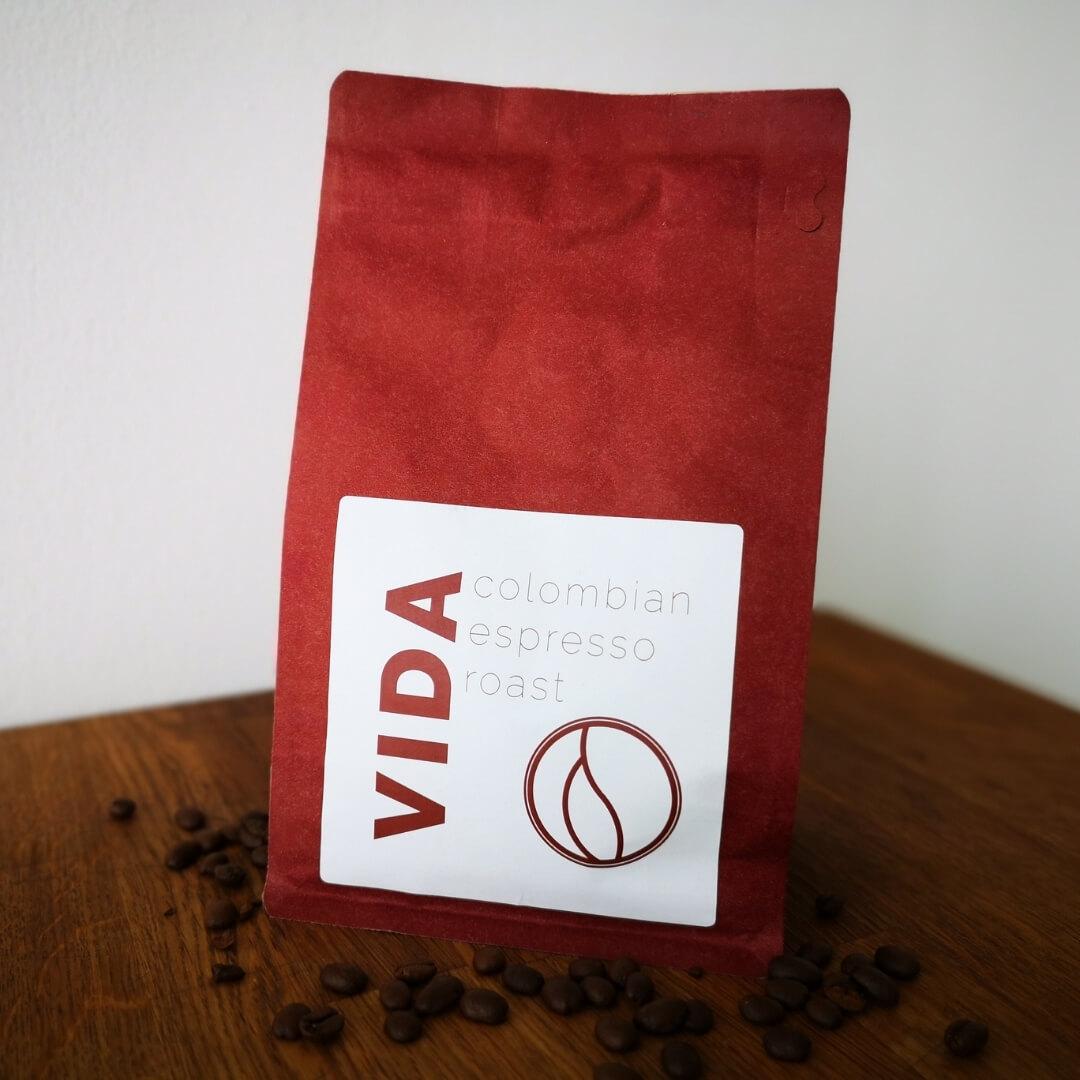 Vida Coffee Espresso Roast Packung